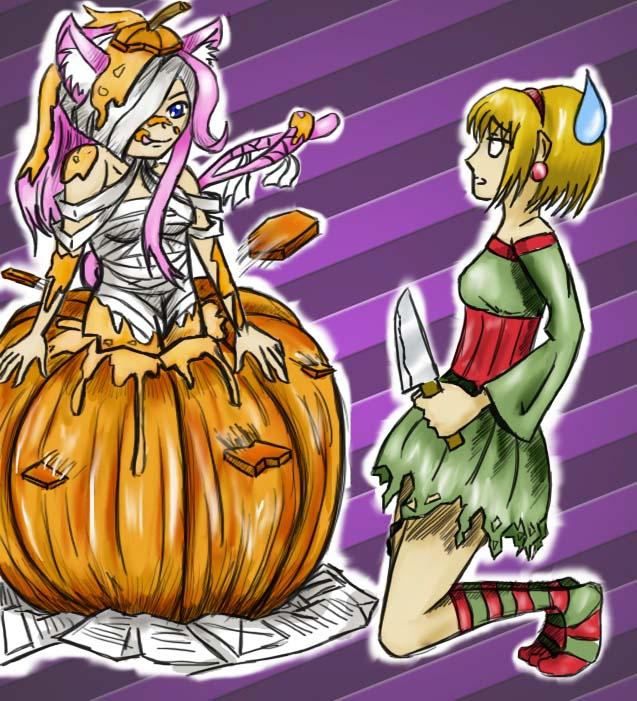 Algunos dibujos =3 Halloween_by_akane_luna-d6sjzyx