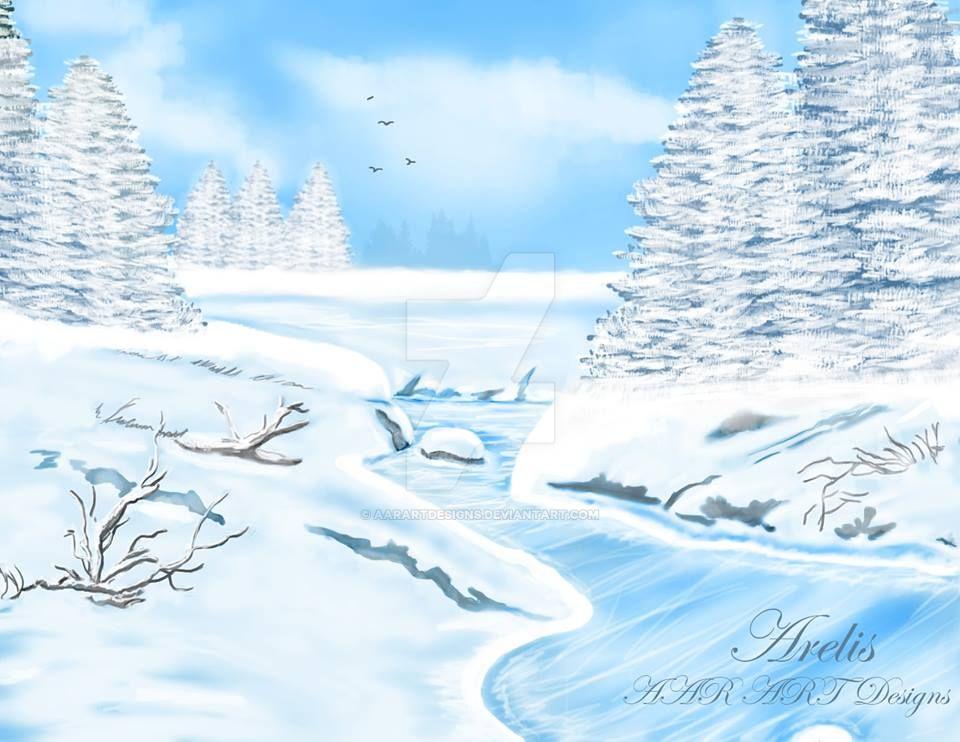 Paisaje nevado - Snowy Landscape by AARARTDESIGNS