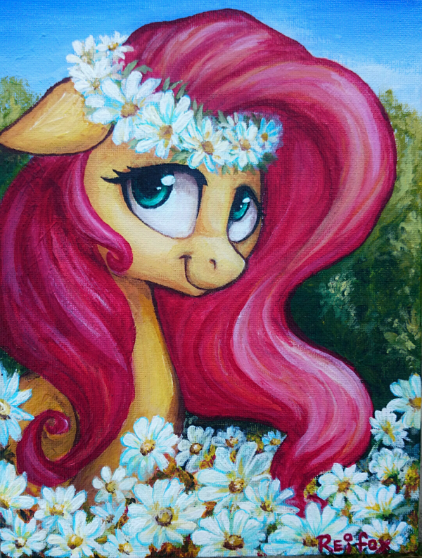 Fluttershy on the canvas by DaffyDream