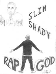Rap God, Slim Shady, Eminem by Arash0098