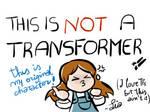 Not a Transformer character (badge)