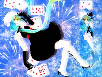 Miku Wallpaper Blue by amyamiki