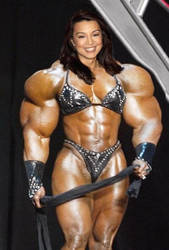 Ming Na Wen has super muscles by saitta4
