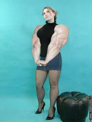 Girl with powerful arms by saitta4