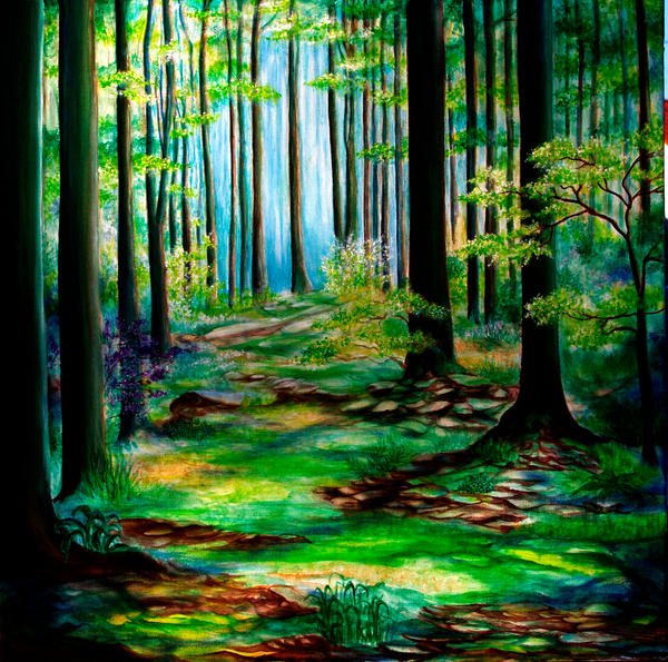 Spring forest by Nanette55