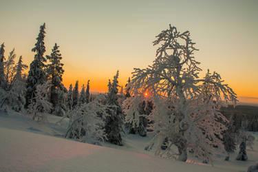 Lapland sunset by Esveeka-Stock