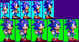 MS/GG Sonic sprites, but in SG style
