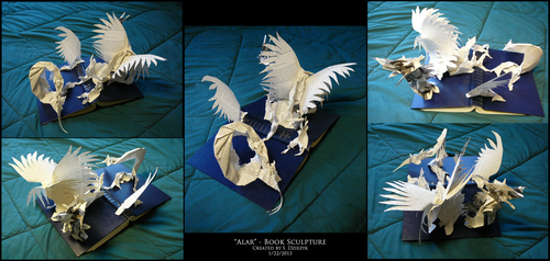Alar - Book Sculpture by LeccathuFurvicael