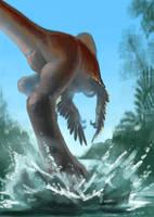 Dinovember - 24 - Gigantoraptor by LeccathuFurvicael