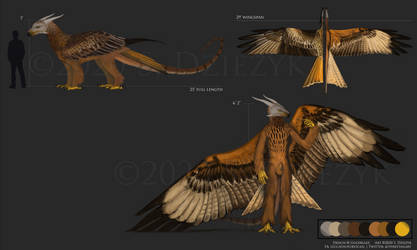 Goldblaze's Red Kite - Bird Dragon