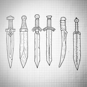 A collection of short-swords