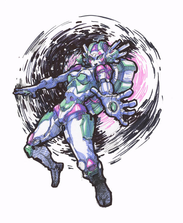 robo space lady by MatthiusMonkey
