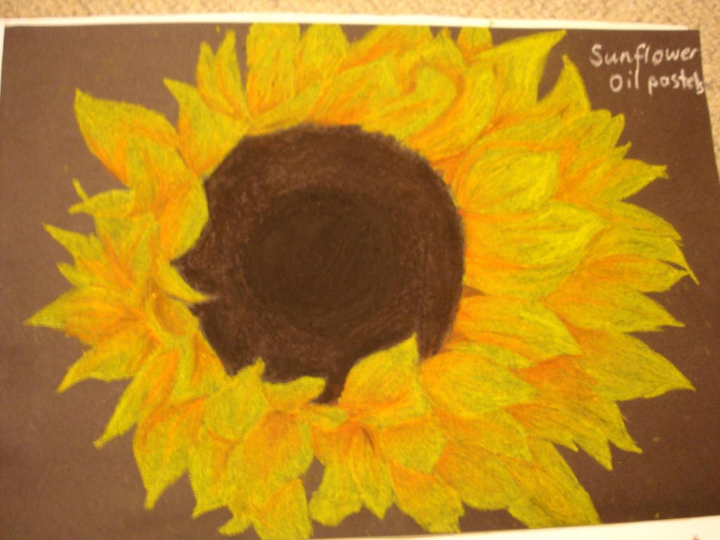 sunflower oil pastels by likeneverbefore on deviantart