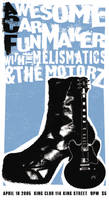 A Rockin' Boot: Rock Poster