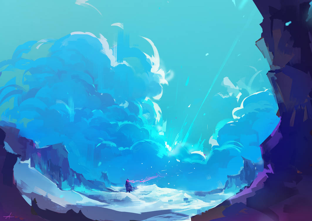 Ice land by AnuPatten