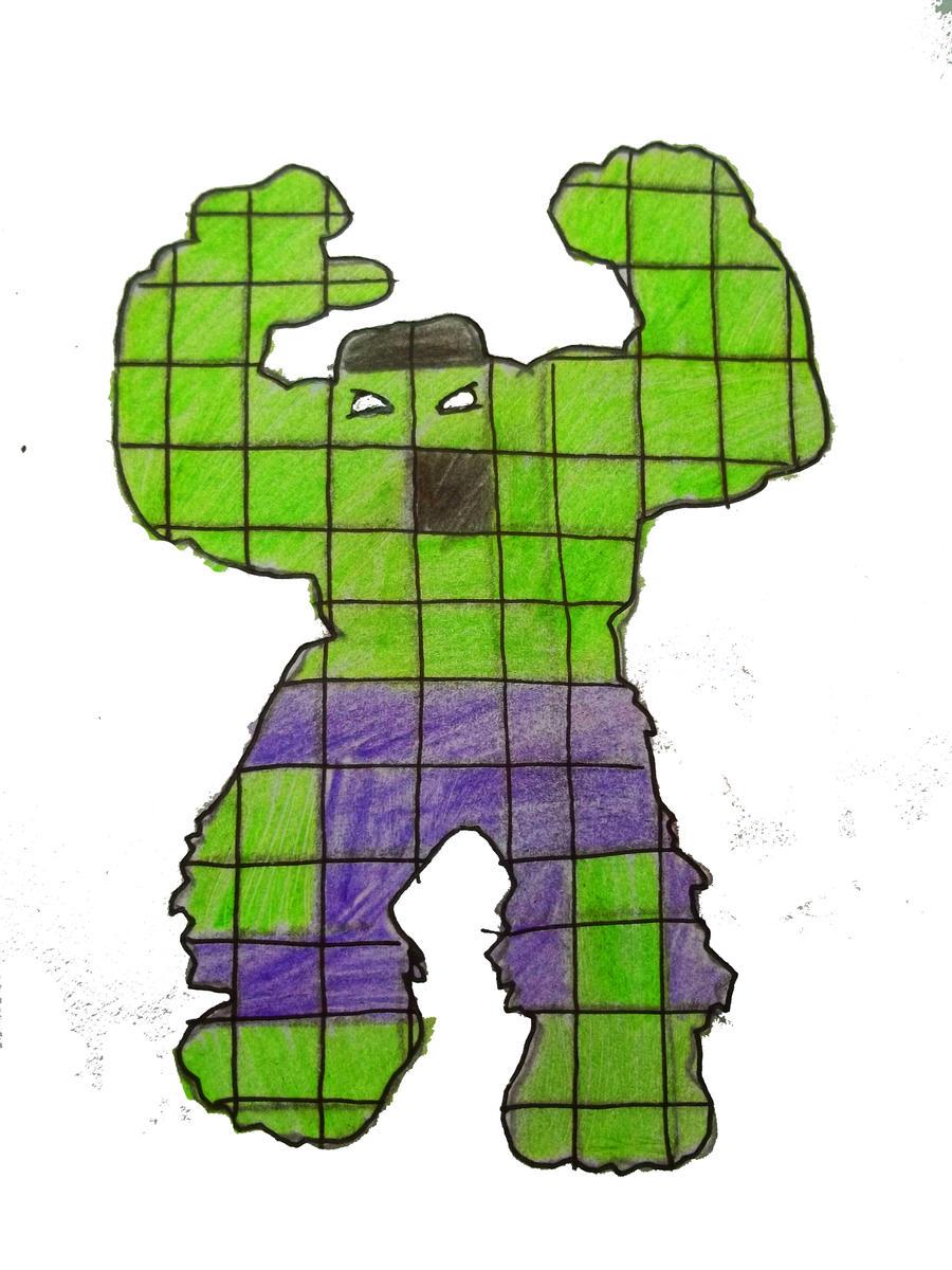 hulk pixel art for - photo #22