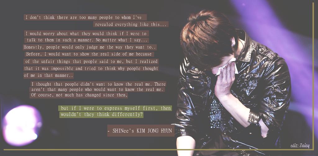 SHINee JongHyun quote by Zaicy