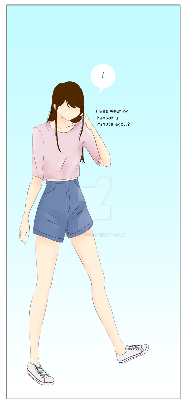 Girl with converse by Zaicy