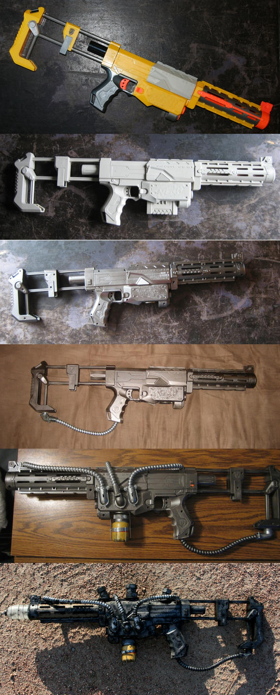 Plasma Rifle Progression by Darksamu