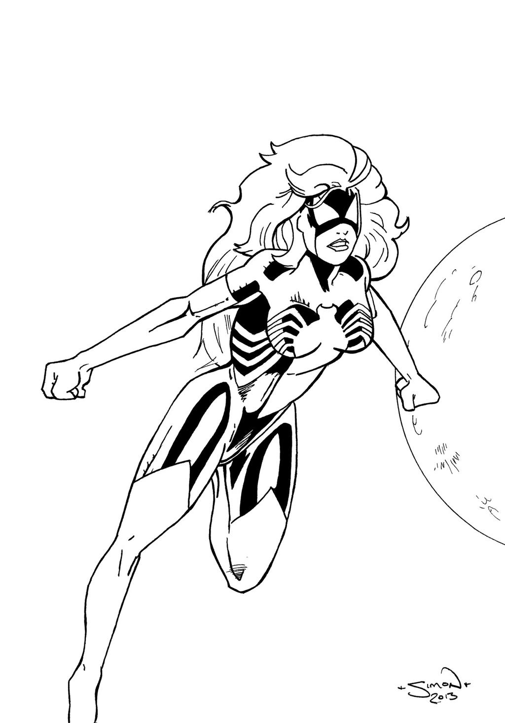 Spider-Woman Inked by StingRoll
