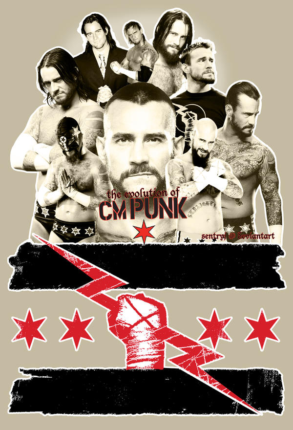The Evolution of CM Punk by sentryJ