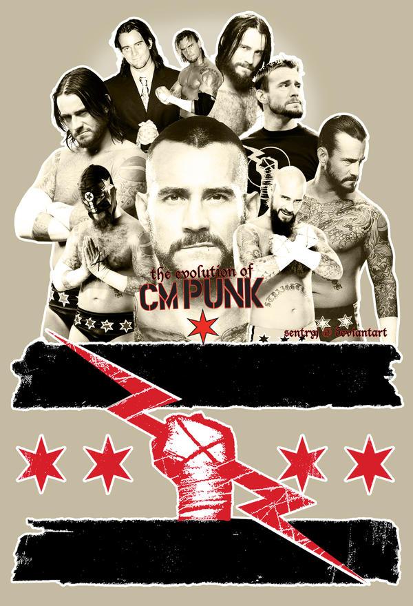 The Evolution of CM Punk by sentryJ