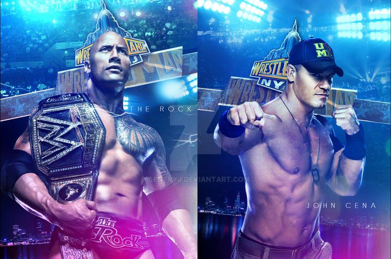 The Rock Vs John Cena By Sentryj On Deviantart
