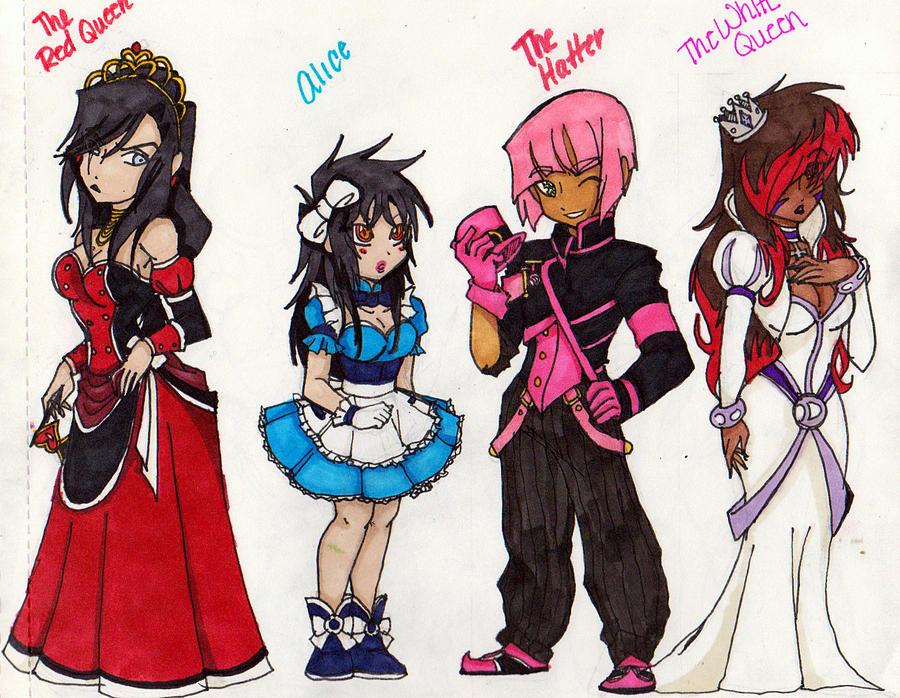 Yuji in Wonderland Character Genderbends pg 1 by KireiTsuki