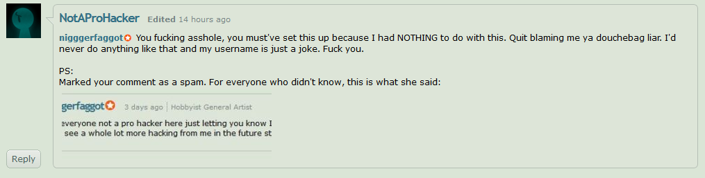 Carl's Comment Before Journal Was Posted. by Cerpcake