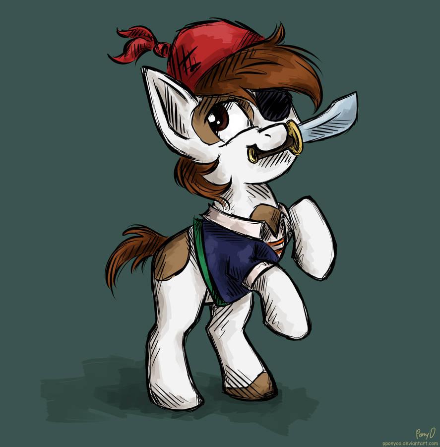 Pipsqueak the Pirat by PPonyOO