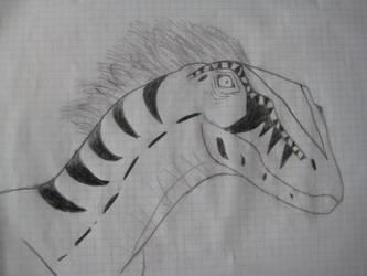 Female raptor portrait by DinoR9
