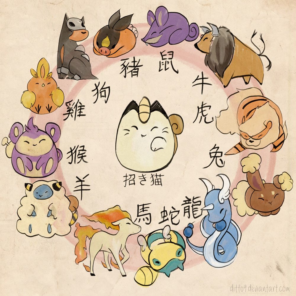 Pokemon Zodiac by ditto9