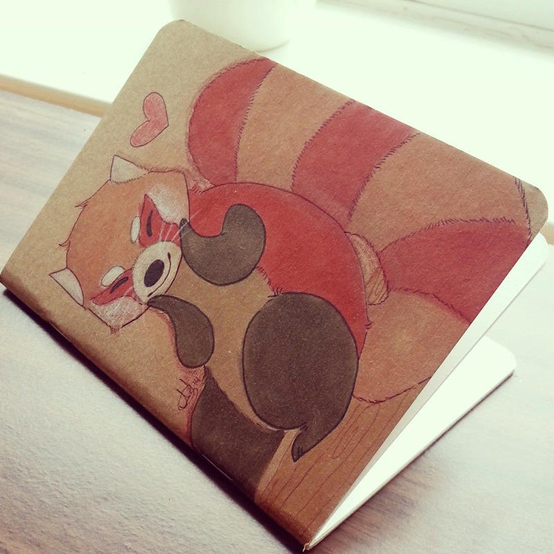 Red Panda Sketchbook by ditto9