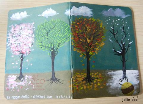 Seasonal Trees - Custom Sketchbook