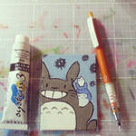 Tiny Totoro Canvas Board
