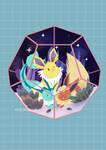 Pokemon Terrarium - Eeveelutions by ditto9