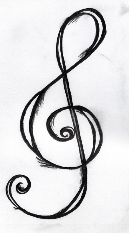 Taking a closer look at the tattoo I'm drawn towards the significance of. Treble Clef Tattoo Design by ~PerceptionInPrint on deviantART