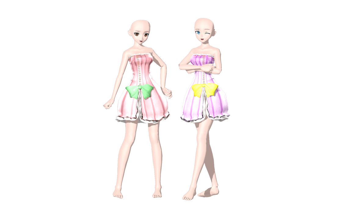 MMD DT colorful x sexy wip 1 by willianbrasil