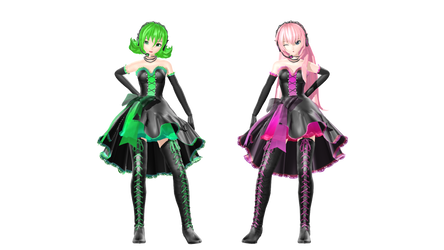 MMD DT IYDD Luka and Gumi by willianbrasil