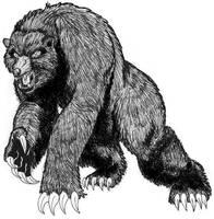 werebear inked by dudeamis
