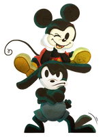 Brothers - Mickey and Oswald by Neverjay