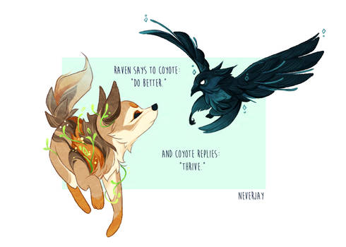 Raven And Coyote