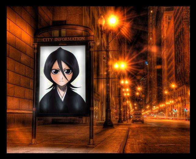 Rukia Bus Stop by Deth-Enigma