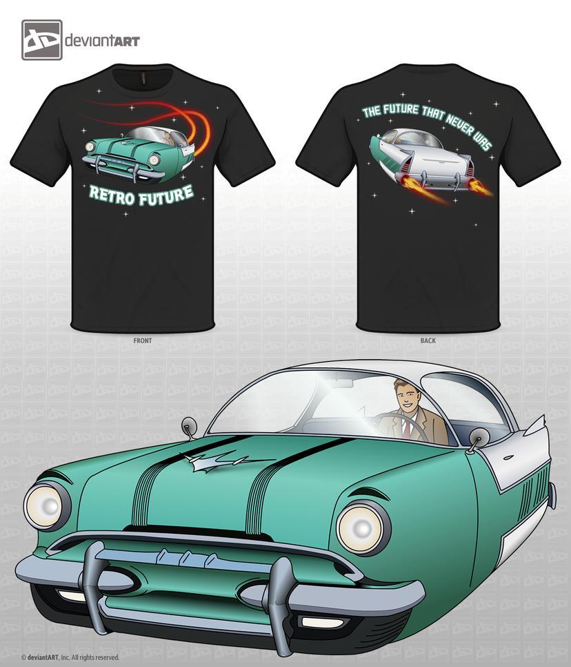 50s Fantasy - Retro Future Tshirt Design by lordcemonur