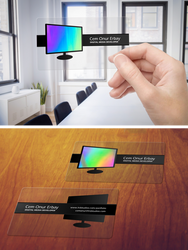 Holographic Transparent Business Card