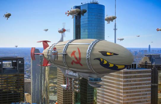 Kirov Airships invading Houston