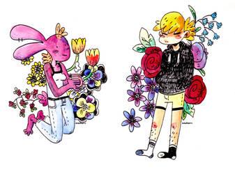 Flower children by MyHatsEatPeople