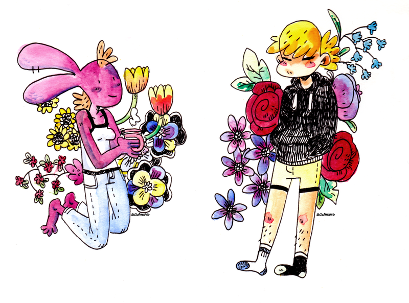 Flower children by MyHatsEatPeople