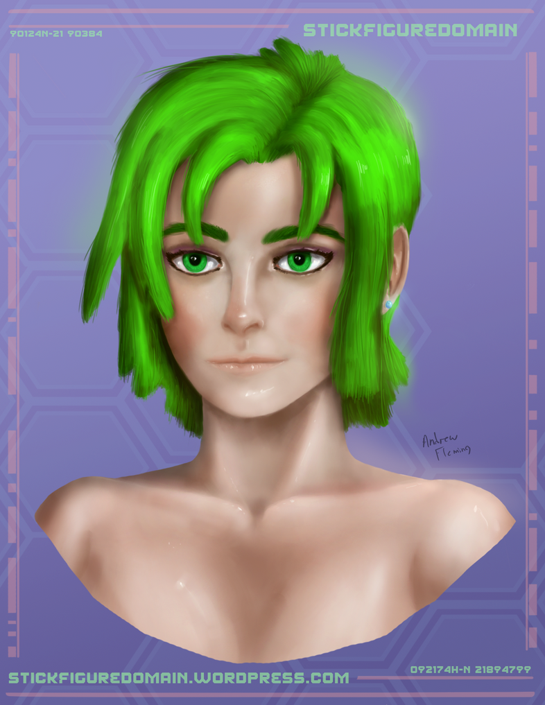 Sasha Portrait Practice by Stickfigure5000