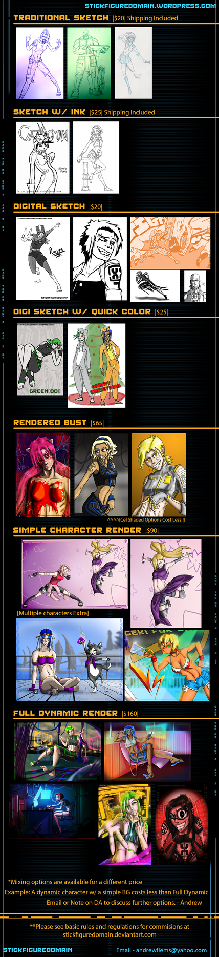 Commission Pricing Guide 2016 by Stickfigure5000